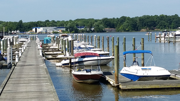 The easiest way to put your boat in the water? Locust Point Marina.